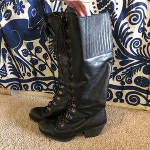 ✨ Rocket Dog heeled knee high goth combat boots ✨